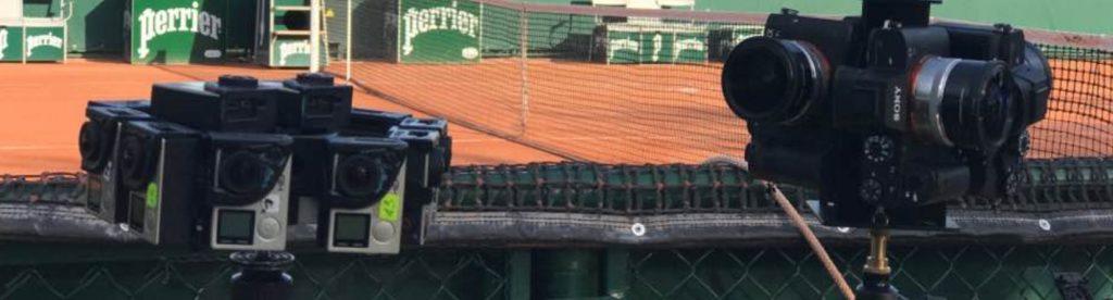 tennis caméra sur le terrain de roland garros