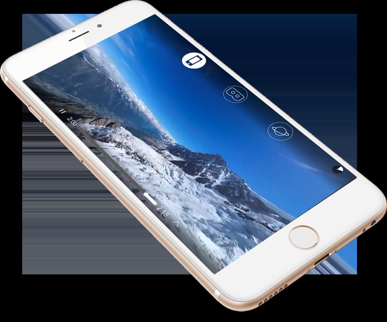 application présentaton avec téléphone apple