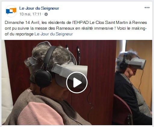 Jour du Seigneur CFRT 360 live vr Digital Immersion